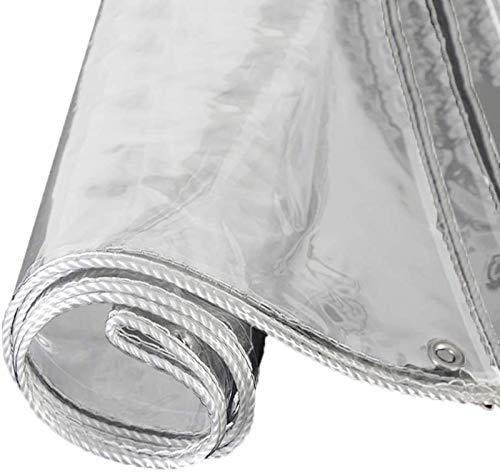 Lonas Impermeable Transparente Espesor 0,5mm,Prueba de Viento,A Prueba de Polvo Lona Cubierta,Lona Invernadero Pesada,con Borde Envolvente(1x2m(3.3x6.6ft))