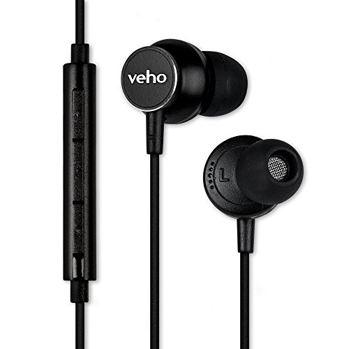 earbuds with microphone remotes Veho Z-3 in-Ear Headphones | Stereo Earphones | Noise Isolating Earbuds | Microphone | Remote Control – Black (VEP-011-Z3)