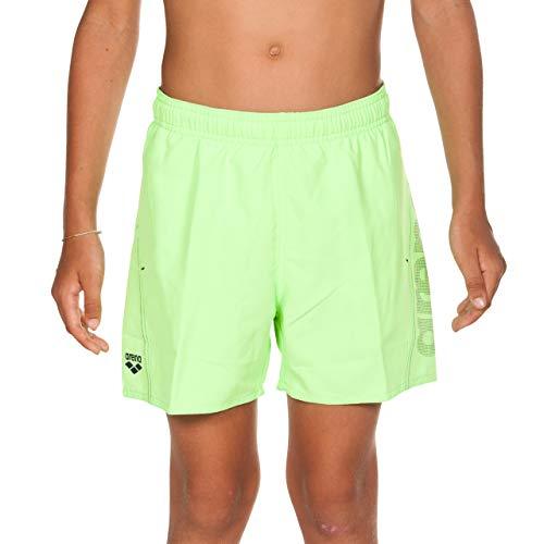 ARENA Jungen Badeshorts Fundamentals Logo Boxer Junior, Shiny Green-Navy, 140
