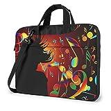 borsa a tracolla per laptop dance music stampato shoproof borsa a tracolla per laptop impermeabile bapa briease 14 pollici
