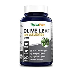 top rated Olive Leaf Extract 750 mg 50% Oleuropein (GMO  Gluten Free) – Vegan – Super Strong –… 2021