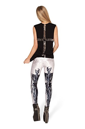 JJ-GOGO Sexy Mechanical Mermaid White Print Legging