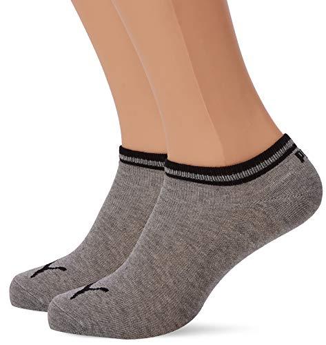 PUMA Herren Heritage Sneaker 2p Sportsocken, Grau (Grey 400), 39/42 (Herstellergröße: 039) (2er Pack)
