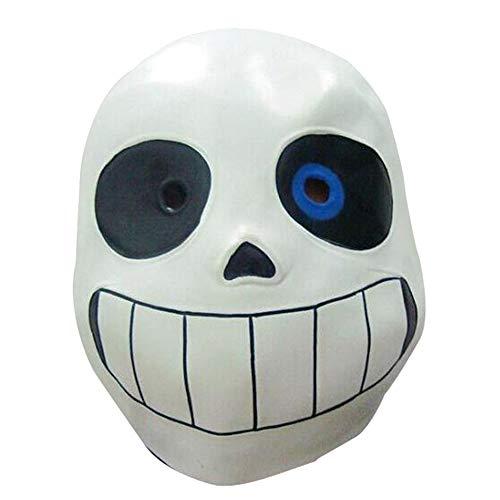 Molagogo Deluxe Latex-Spiel Undertale Sans Full Head Maske Cosplay Kostüm Helm Party Fancy Ball Halloween Weihnachten Requisiten - Blau - für Erwachsene