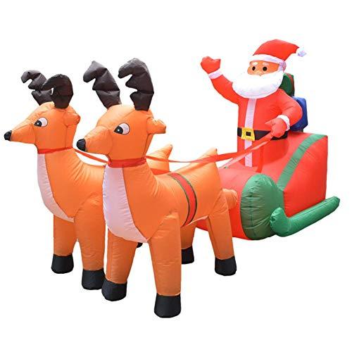 Hete-supply Kerstmis Opblaasbare Decoraties, 220cm130cm / 215cm140cm, Elk Slee Kerstman, Opblaasbare Kerstman, Kerst Decoratie Pop Voor Binnen Outdoor Yard Tuin