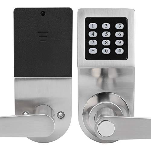 Cerradura de Puerta electrónica Cerradura de Tarjeta con contraseña Cerradura de Puerta Inteligente Cerradura de contraseña de dígitos con Llave mecánica de 2 uds para el hogar
