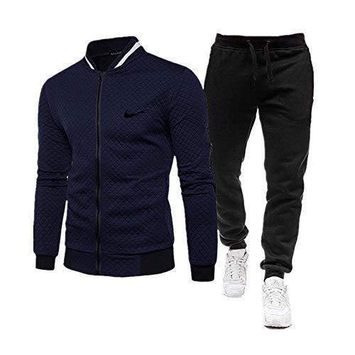 Herren Trainingsanzug 2 Stücke Herren Winterjacke Reißverschluss Jacken Sportswear+Hosen Sweatshirt Sportanzug Männer Sets