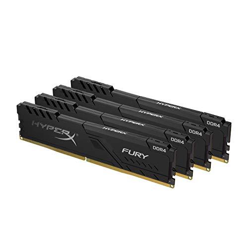 HyperX FURY Black HX432C16FB3K4/128 Memoria 128GB Kit (4x32GB), 3200MHz DDR4 CL16 DIMM