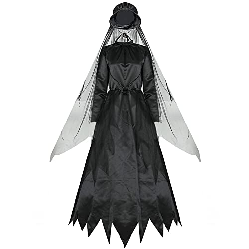 NC Juego de rol Fantasma mujer fantasma clsico bruja ropa zombi vampiro novia muerte mujeres Halloween gtico traje