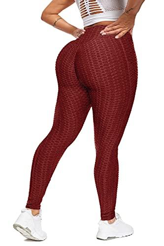 Chriamille TIK Tok Leggings Plus Size Booty Leggings for Women Butt Lift Textured Leggings Plus Size Cellulite Leggings XXL