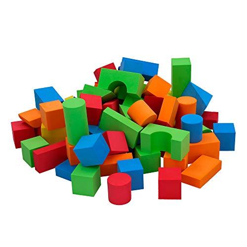 ColorBaby -  Mochila con 74 bloques de goma EVA COLOR BLOCK (43736) ,