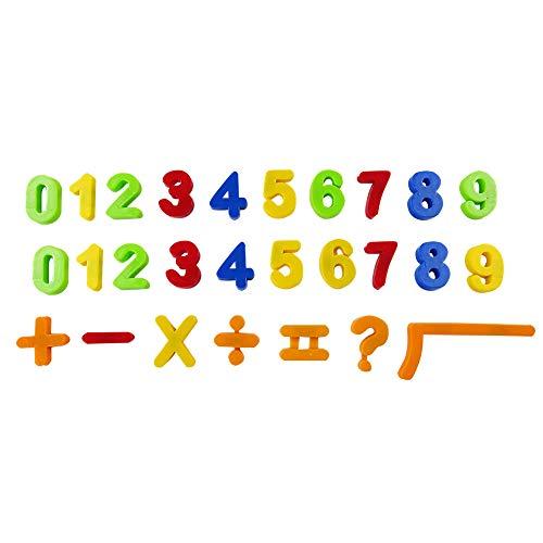 quanjucheer Letras y números magnéticos para niños alfabeto nevera imanes para aprender temprano números árabes