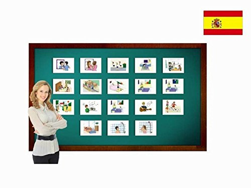 Tarjetas con ilustraciones en español - Rutina diaria - a
