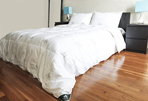 """Triumph Hill"" White Goose Feather and Down Comforter with 2 Pillows Deluxe Set (King)"