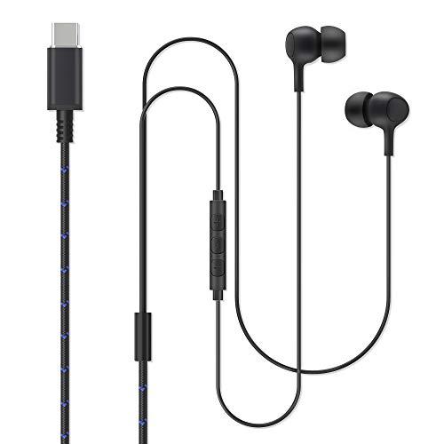 Cuffie USB C, aceyoon Auricolari In-Ear con Microfono e Controllo del Volume Auricolari USB-C Hi-Fi Stereo con Cancellazione del Rumore Auricolari con Filo per Google Pixel/3/XL, Mate9/P20,Galaxy S8+