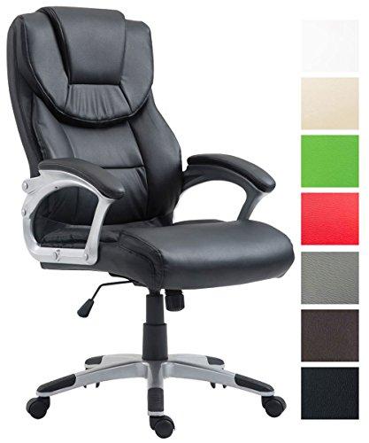CLP Bürostuhl XL Texas V2 mit Kunstlederbezug l Drehstuhl mit Armlehnen l Chefsessel mit...