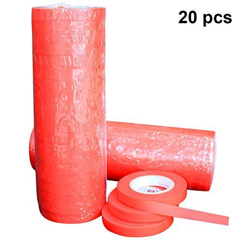 Christm 20 Stück 30 m Astwerkzeuge Pflanzenbinden Zweige Maschine Gartenwerkzeuge Obstblumen Tapener Strapping Tape rot