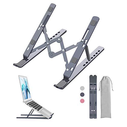 Laptop Ständer Notebook Tablet Laptop Stand Multi-Winkel Aluminium Verstellbar Höhe Einstellbar Faltbarer Laptopständer Tablet Halterung Halter für 5 - 15,6 Zoll Laptop Handy Notebook/iPad/MacBook