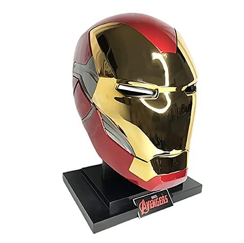 SPOTOR Iron Man Mark85 La Persona Real Puede Usar 1: 1 Casco PláStico ABS con Plataforma Luminosa Ordinaria SuperhéRoe Halloween MascaríA SuperhéRoe Portable por Personas Reales Props