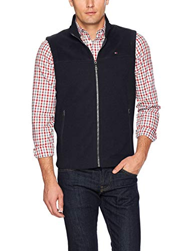 Tommy Hilfiger Men's Polar Fleece Vest, navy, Large