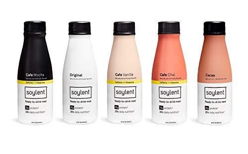 Soylent Meal Replacement Shake, 5 Flavor Variety Pack (Pack of 25)