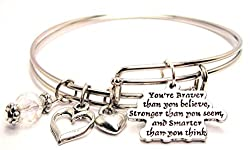 You're Braver Than You Believe Bracelet