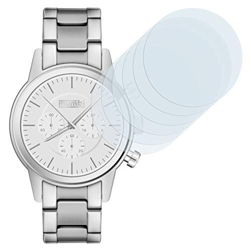 mumbi Schutzfolie Ihre Armbanduhr Folie klar, Displayschutzfolie 40mm (6X)