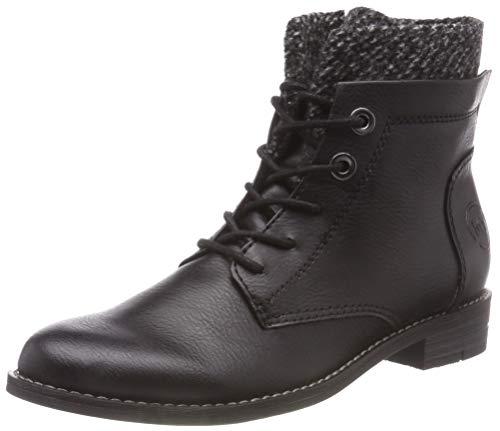 MARCO TOZZI Damen 2-2-25119-21 096 Combat Boots, Schwarz (Black Ant.Comb), 39 EU