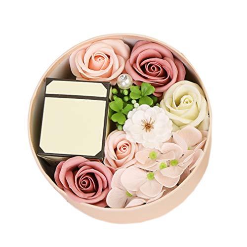 Healifty Jabón de Baño Flor de Rosa Jabón Perfumado Pétalos de Rosa Jabón de Cuerpo Regalo para Aniversario Cumpleaños Boda Día de La Madre Día de San Valentín