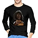 Gerneric Luckyoung Stormzy Casual Men's Long Sleeve Round Neck T Shirts Tee Black S
