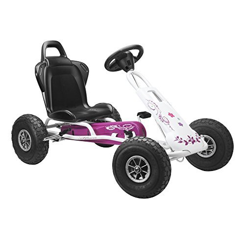 Ferbedo Air Runner Pneumatic Tyres Go Kart (Pink/ White) by Ferbedo