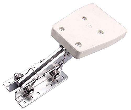 Hoffen Boat Aluminium Outboard Motor Bracket Mount Heavy Duty White Mounting Plate Marine Auxiliary 7.5-20hp