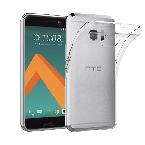 Cordking HTC 10 Case, EasyAcc HTC 10 Soft TPU Case Crystal Clear Transparent Slim Anti Slip Case Back Protector Cover Shockproof for HTC 10