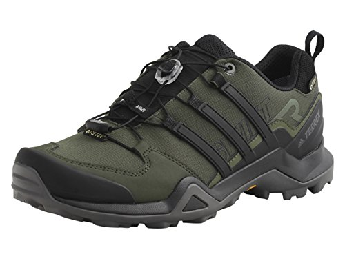 adidas Outdoor Terrex Swift R2 GTX Mens Hiking Boots, (Night Cargo, Black, & Base Green), Size 8.5