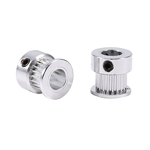 Liineparalle 2 stks Riem Pulley Legering Timing Pulleys Wheel 8mm Binnendiameter 20 Tanden voor 3D Printer Aluminium Materiaal Timing Pulley Riem Set Gesloten Loop Synchrone Wiel voor CNC Mechanische Drive