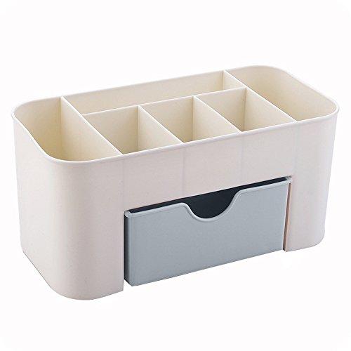 Cartucho de maquillaje de plástico con cajón pequeño, caja de almacenamiento multiusos...