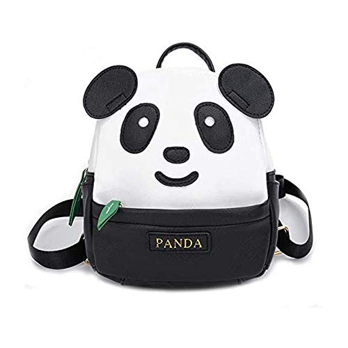 TXVSO Cute Kawaii Panda Mochila para niños Mochila de Kindergarten de Dibujos Animados para niños pequeños, Negro