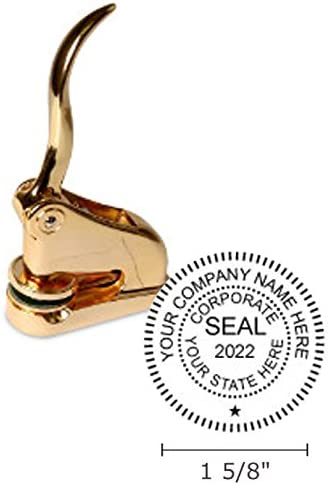 Ranking TOP16 Decorative Gold Corporate Seal Fixed price for sale 1-5 8 Impressions Circular Inch