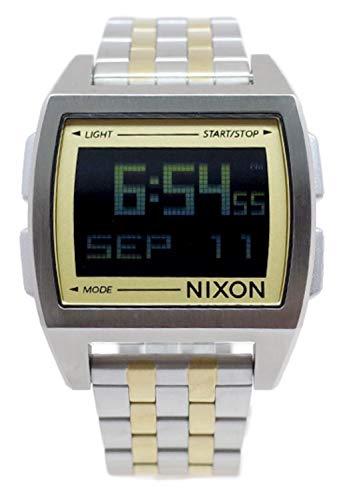 Nixon The Base Herren Uhr digital Quarzwerk mit Edelstahl Armband A11071431