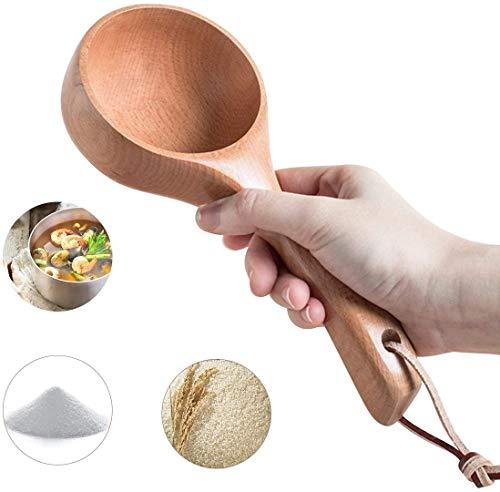 ZRXRY Cocina de Madera de usos múltiples de la Cucharada de la Cuchara por un baño de Sal Canastillo de harina Cucharada Cucharas de cocinar Baño Cucharada