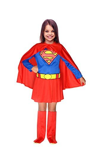 Ciao-SuperGirl Costume Bambina Originale DC Comics (Taglia 8-10 Anni), Colore Blu/Rosso, 11680.8-10