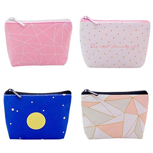 iSuperb Borsa Portamonete Portafoglio da Donna Tela Borsellino ragazzo Mini Cute Coin Pouch Bag (Cielo stellato)