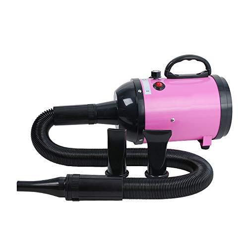 HFCY Animale Domestico Negozio CaniCapelli Asciugatrice, 2600WAlto Energia Soffiatore Riscaldatore, Cat/Cane Preparando Asciugatrici, Costante TemperaturaFaNonmaleCapelli(Rosa)