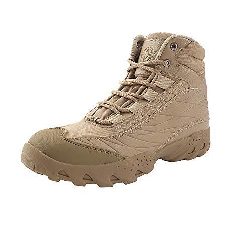 Desert Pattini di Combattimento All'aperto Appassionati Stivali Tattico Stivali Militari Scarpe da Trekking Beige- 45