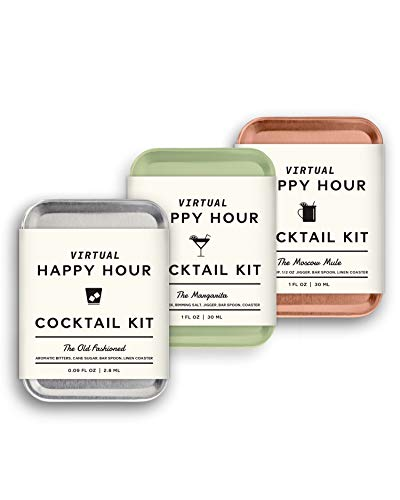 W&P The Virtual Happy Hour Cocktail Kit, Variety | Pack of 3 | Make at Home Craft Cocktails | No Bartending Skills Required | Just Add Your Own Hard Stuff & Stir