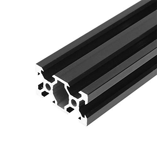 Pilang zxxin-Guide lineari, 1pc Nero 2040 Profilo di Alluminio anodizzato Estrusione 100mm-800mm Lunghezza Guida lineare, per Stampante 3D CNC V-Slot V-Slot, Durevole (Color : 500mm)