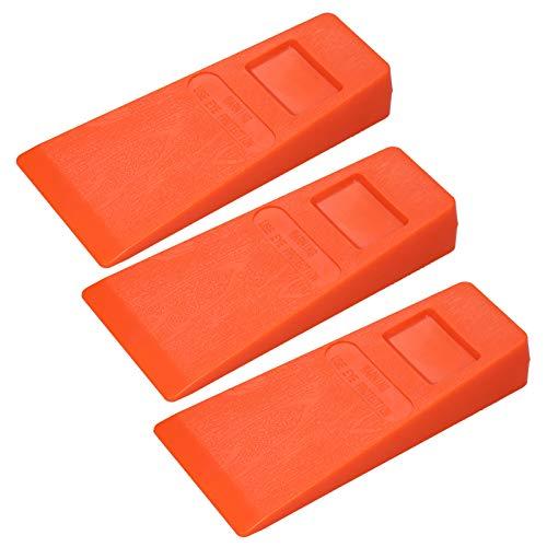 Tooart Kunststoff-Fällkeil - 3Pcs 14Cm Orange Kunststoff Fällkeil Gekeilter Keilbaum Schneidkeil Stachelkeil Holzschnittwerkzeug