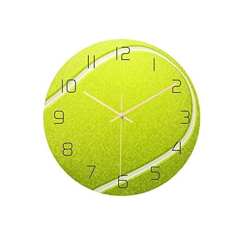 hufeng Reloj de Pared de Tenis, acrílico, silencioso, Reloj de Pared, Dormitorio, Sala de Estar, Reloj, cumpleaños, Regalo para la decoración de la habitación de los niños