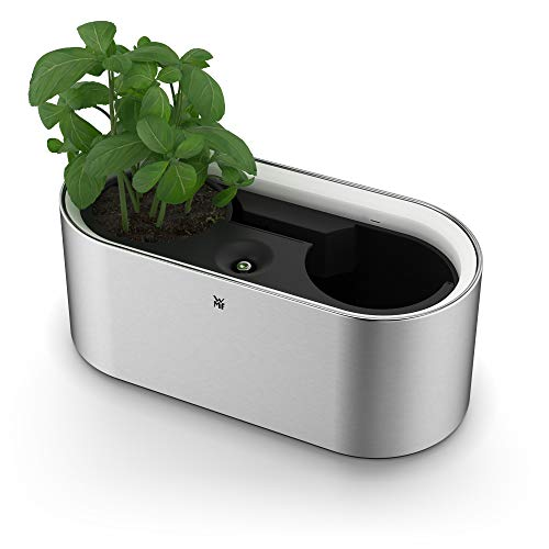 WMF Ambient Kräuter home elektrich Kräutergarten (für 2 Blumentöpfe, Kräutertopf mit Selbstbewässerungssystem bis zu 4 Tage, Easy touch LED Beleuchtung)