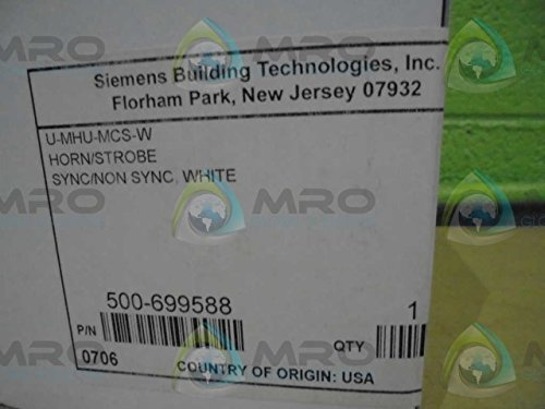 SIEMENS BUILDING TECHNOLOGIES INC. 500-699588 WHT STROBE HORN *FACTORY SEAL*